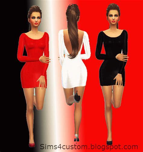 open  dresses set red white black female