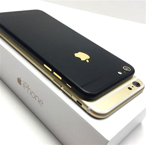 Matte Edition Iphone 7 iphone 6 customised matte black 24k gold edition