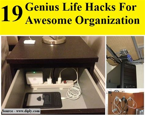 hacks for home 19 genius life hacks for awesome organization home and