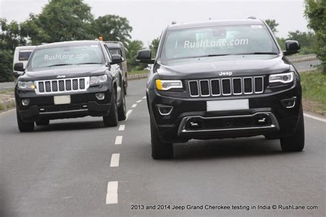 Jeep Model Cars In India Jeep Grand 2014 And 2013 Models Spotted Together