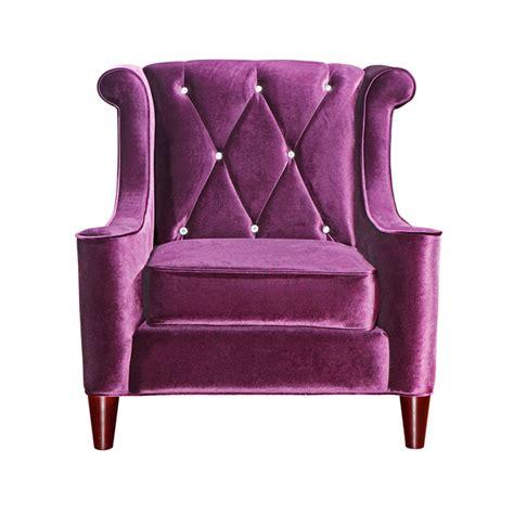 purple velvet bedroom chair barrister velvet chair purple by armen living fab