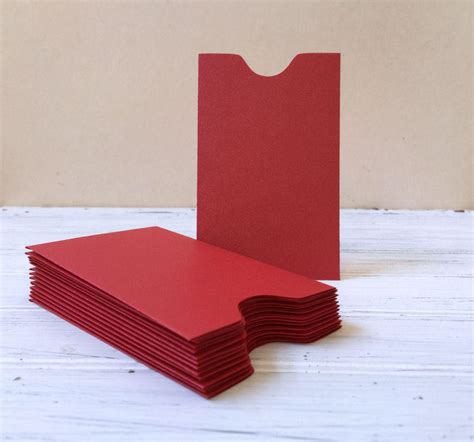 Gift Card Sleeves In Bulk - 100 red mini red envelopes gift card holder bulk enveloples ebay