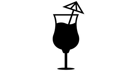 umbrella drink svg cocktail glass with an umbrella free food icons
