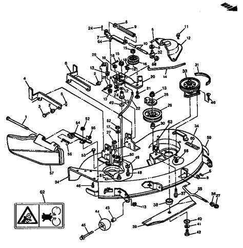 deere 38 mower deck belt diagram mower deck 38 quot 97cm diagram parts list for model