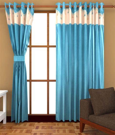 v r interior decors v r interior decors blue polyester plain door curtain