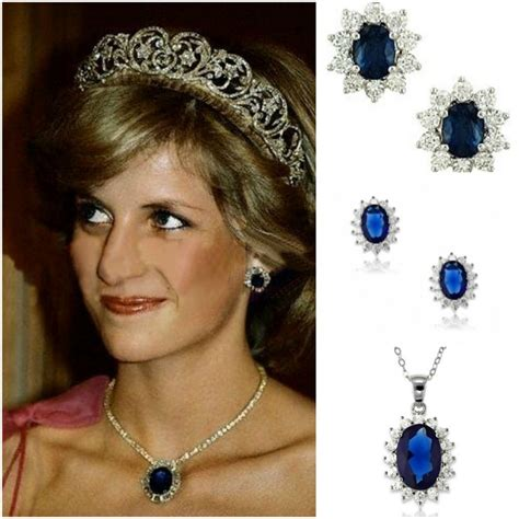 diana s blue stone earrings princess diana s sapphire jewelry collection diamond