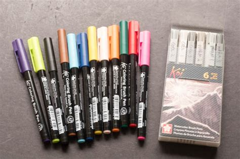 Water Color Pen Set review koi watercolor brush pen set 12 colors