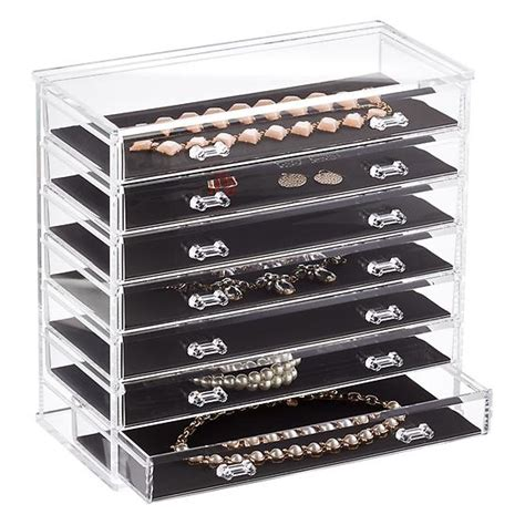 clear storage dresser 7 drawer premium acrylic chest clear the container