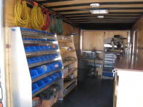 cargo shelving ideas 1000 images about work trailer ideas on