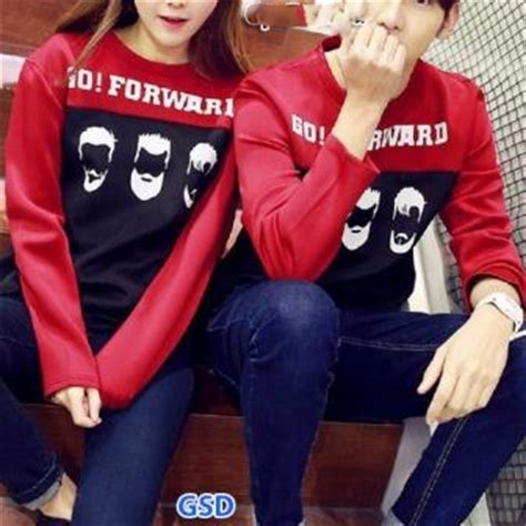 Pasangan Baju Kaos Atasan Sweater H2o kaos baju lengan panjang pakaian pasangan baju