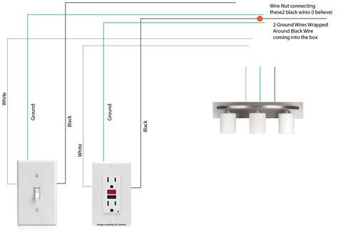 wiring diagram for bathroom vanity light wiring diagram