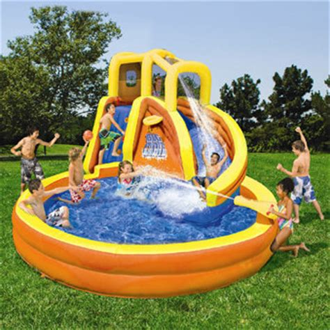 backyard inflatable water park backyard water slide fun center banzai from americansale com