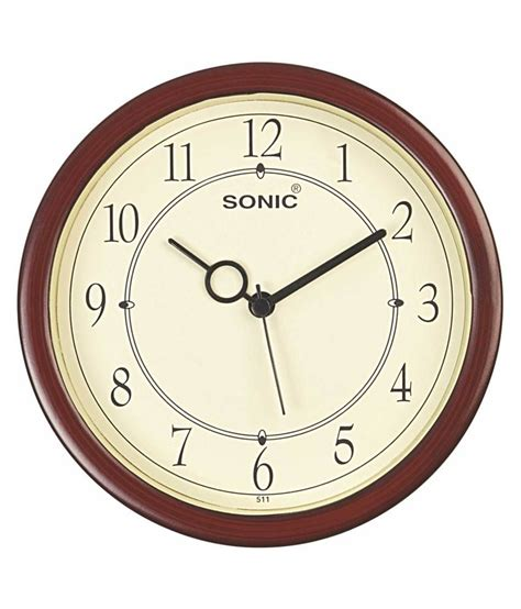 brown wall clocks contemporary sonic brown contemporary analog wall clock buy sonic
