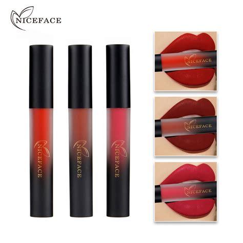 Lipgloss Lasting niceface 18 colors waterproof liquid matte lipstick
