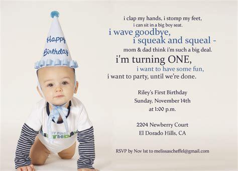 1st Birthday Quotes 1st Birthday Invitation Wording Gangcraft Net