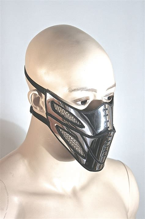 mouth mask mouth bane mask masquerade steunk mask chrome facemask