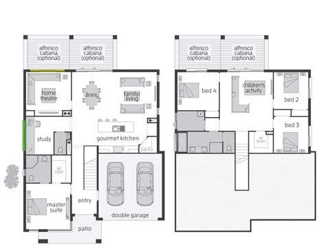 Split Level Floor Plan by Horizon Act Floorplans Mcdonald Jones Homes