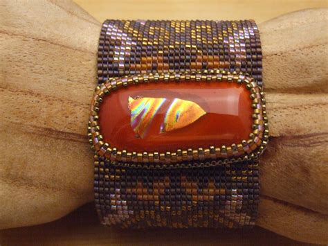 Bead Woven Bracelet loom woven beaded bracelets by smythe the creative