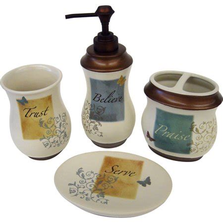 butterfly blessings 4pc bath accessory set walmartcom