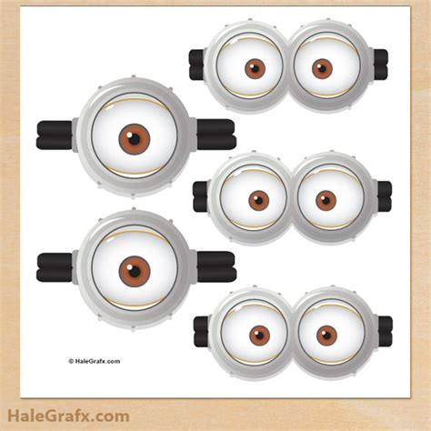 printable minion eyes template diy pin the goggles on the minion the life of a runner