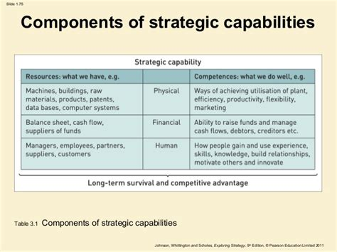 capabilities analysis template business strategy