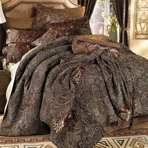 western bedding sets queen western bedding queen size western paisley beaumont bed