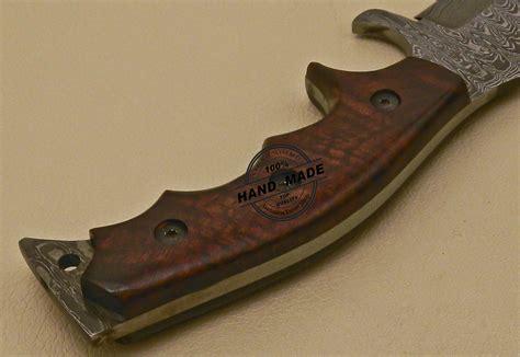 Handmade Custom - damascus tracker knife custom handmade damascus tracker