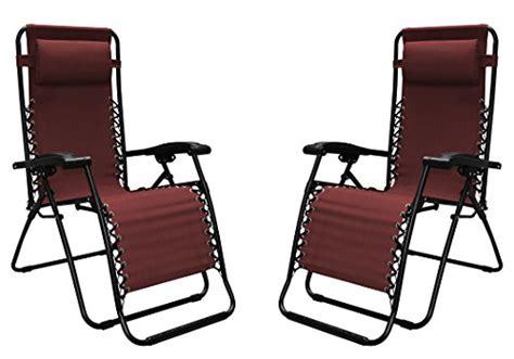 caravan sports infinity zero gravity chair burgundy caravan sports infinity zero gravity chair 2 pack