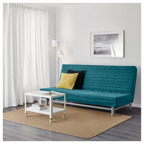 rei c bed 3 5 beddinge l 214 v 197 s three seat sofa bed knisa turquoise ikea