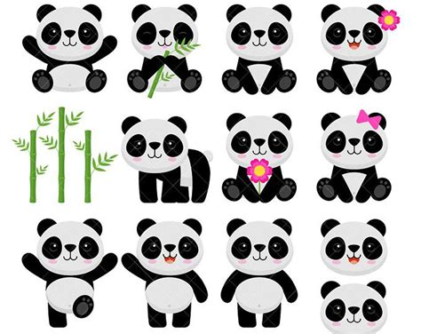 panda clip panda clipart panda birthdays and scrapbooking