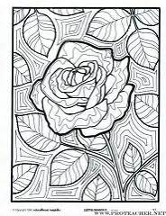 Lets doodle rose colouring pages