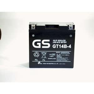 Motorrad Batterie Gs Gt14b 4 by Battery Lookup Gs Gt14b 4 Motorcycle Battery