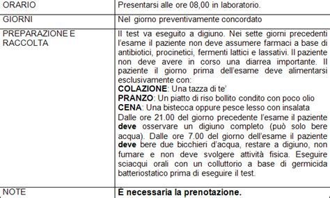 breath test al glucosio preparazione alle analisi lab sud carbonia s a s