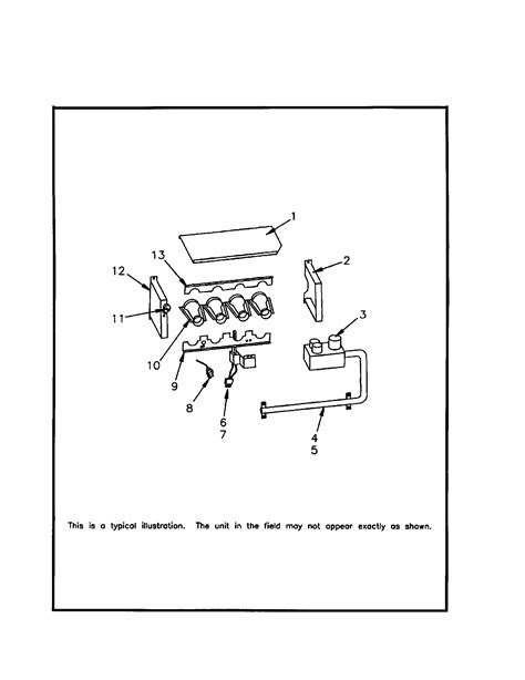 trane furnace parts diagram burner assembly diagram parts list for model