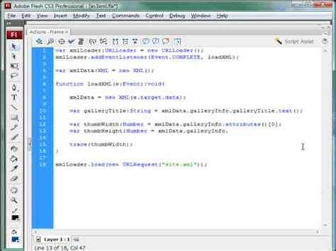 tutorial flash xml flash tutorial xml and actionscript 3 youtube