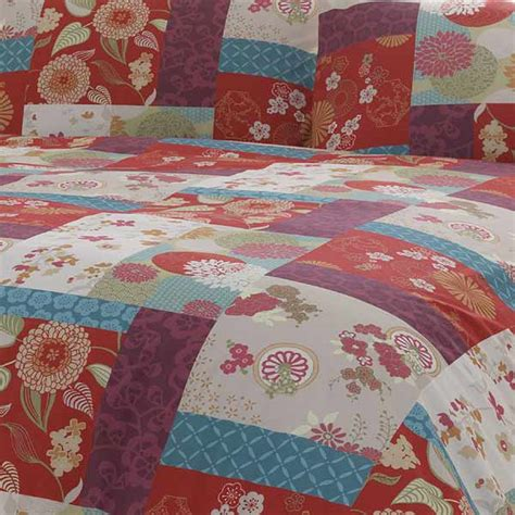 Patchwork Duvet Cover Pattern - patchwork duvet cover set spice ebay
