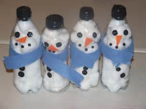 Winter crafts with water bottles