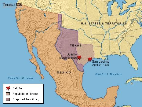 texas and mexico map map of u s mexico texas in 1836