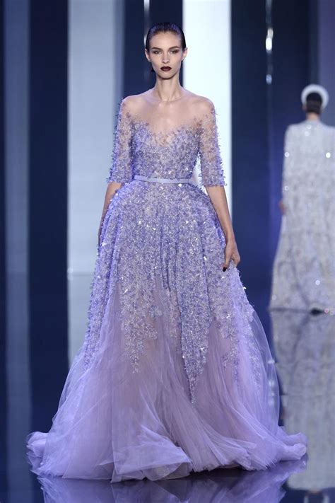 Dress Zipper Blink 2016 elie saab a line evening gowns see through sheer neck