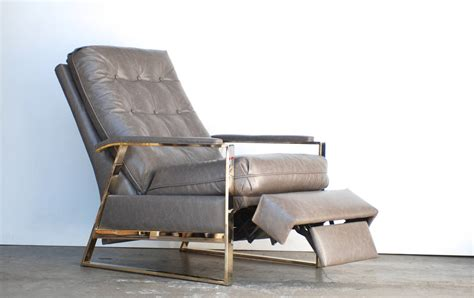 Baughman Recliner by Baughman Grey Leather Recliner At 1stdibs
