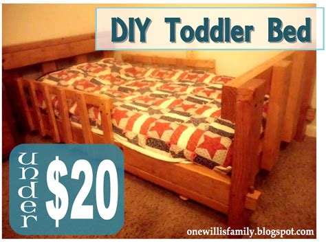 toddler bed diy one willis family diy toddler bed