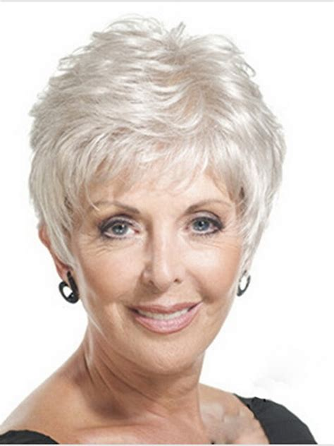 short hair wigs for older women wigs for older women with round faces short hairstyle 2013