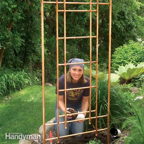 build a garden trellis diy copper garden projects the garden glove