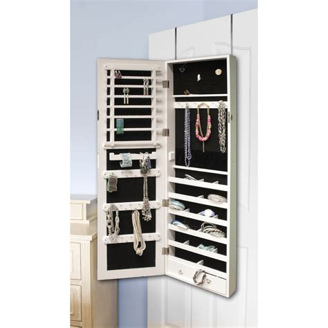 jewelry armoire safe btexpert over the door hanging jewelry armoire cabinet