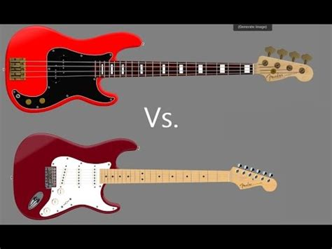 what s the difference between whats the difference between guitar and bass