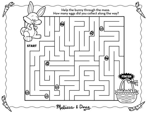 a4 printable maze free printable easter bunny maze connect with m d