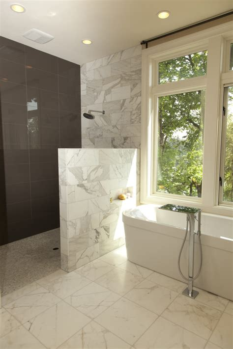 Bathroom Half Wall by Half Wall Half Glass Shower