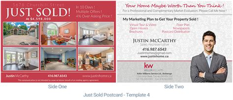 templates from other realtor post cards just sold real estate postcard just sold housslook