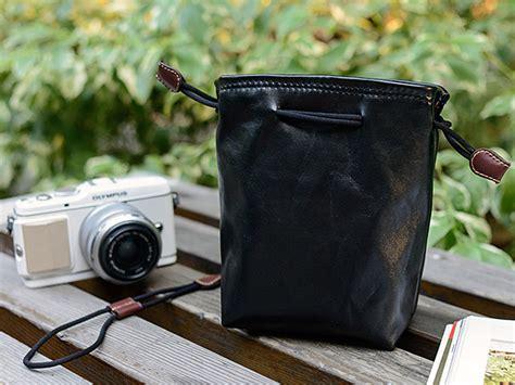 camera insert storage pocket leather pouch  size