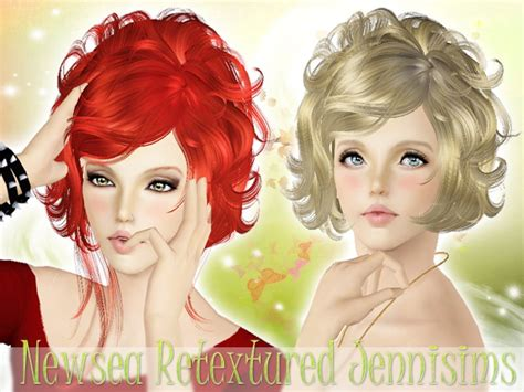 sims 2 short curled bob curly bob hairstyle newsea hair masquerade sims 3 hairs